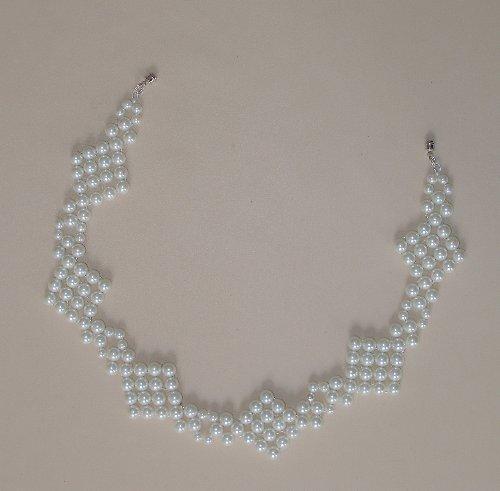 náhrdelník perle skleněné