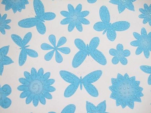 Karton modrý Flora