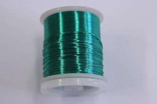 Měděný drátek 0,5mm - mint, návin 19-21m