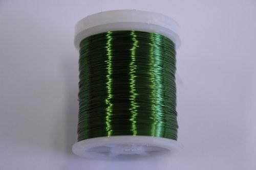 Měděný drátek 03mm - zelený, návin 48,5-50m