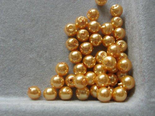 Vosková perla - zlatá 5 mm / 20 ks