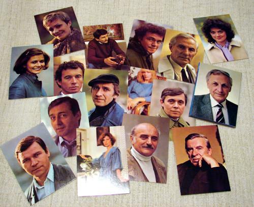 Star Dust - soubor kartiček osobností 80. let