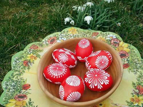 Velikonoční kraslice - červené