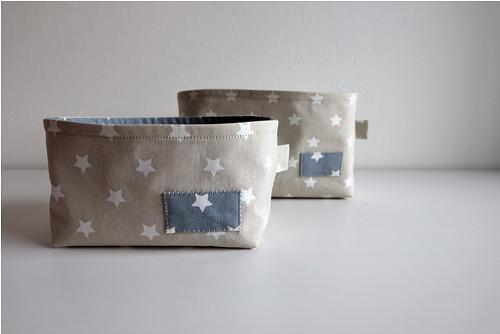 Textilní košíky ...hvězdné duo