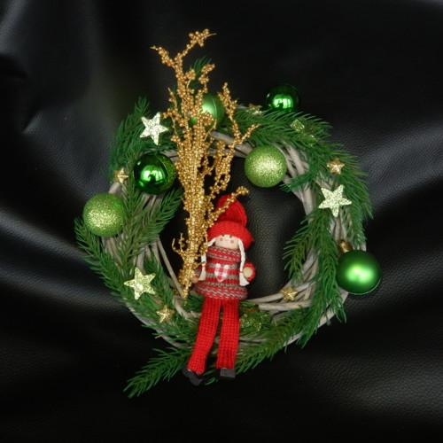 Vánoční věnec zelený
