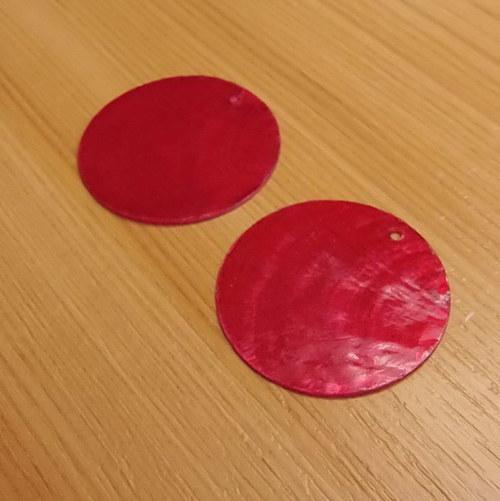 Perleťové placky 30 mm - 2 kusy