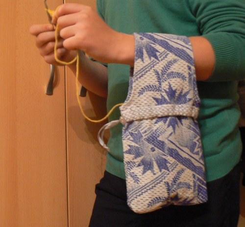 Taštička na háčkování či pletení