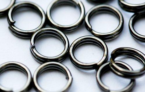 Spojovací kroužky dvojité - černé, 4mm, 20 ks
