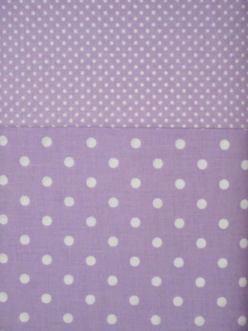 Dekorační látka metráž puntíky fialové