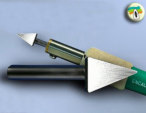 Nástavec na enkaustické pero - kopí