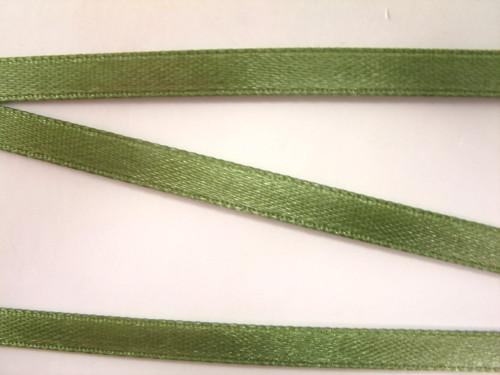 Stuha atlasová 6 mm tmavě zelená, 32bm