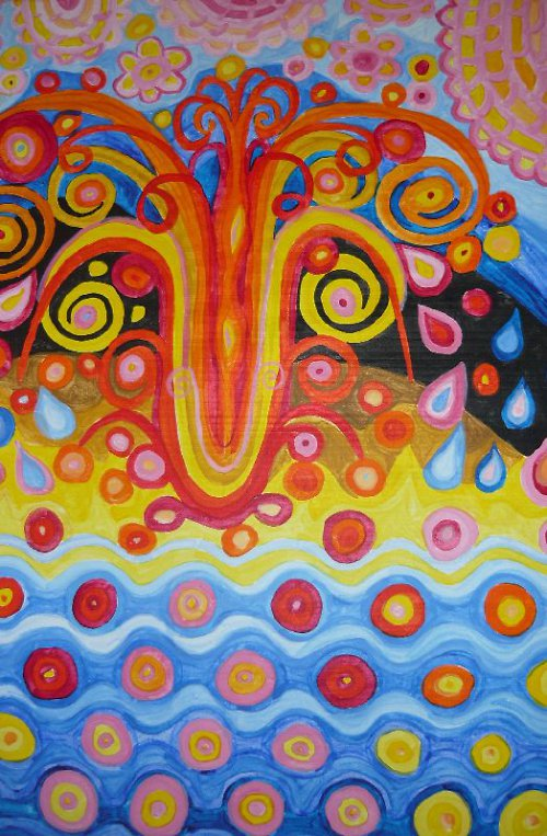 Obraz malba na plátně akryl Oheň