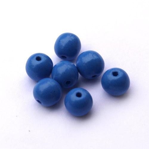 6 mm korálky kuličky modrá nebeská