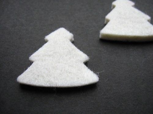 Výsek z plsti - strom bílý (1ks)