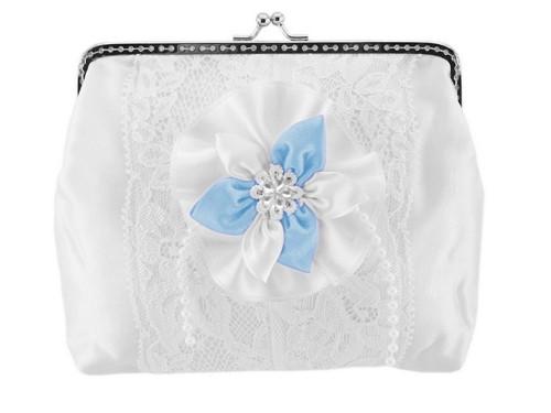 Dámská kabelka bílá, svatební kabelka E6