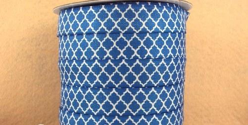 Pruženka/guma š. 16 mm: Tile modrá