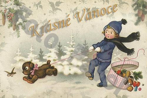 Vintage motiv - vánoce 13-4