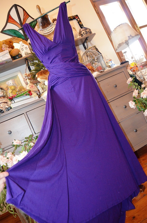 !!! Luxusní maxi šaty v barvě fialek !!!