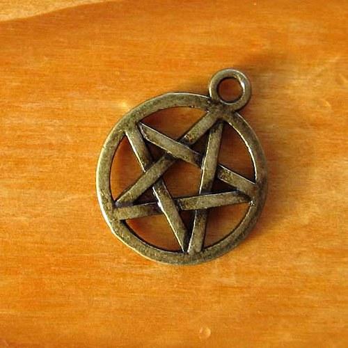 Pentagram Malý - 2ks - Bronzový