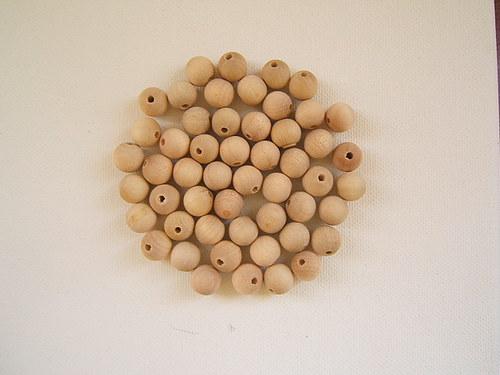 Dřevěné korálky  10 mm 100ks