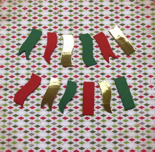 Vánoční vlaječky - 12 ks
