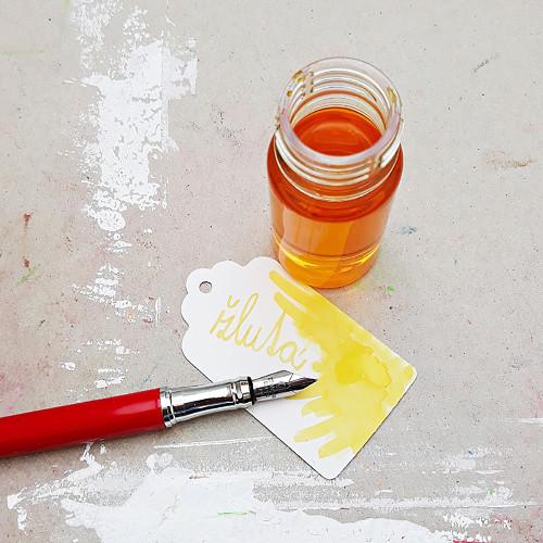Inkoust - žlutá ohnivá