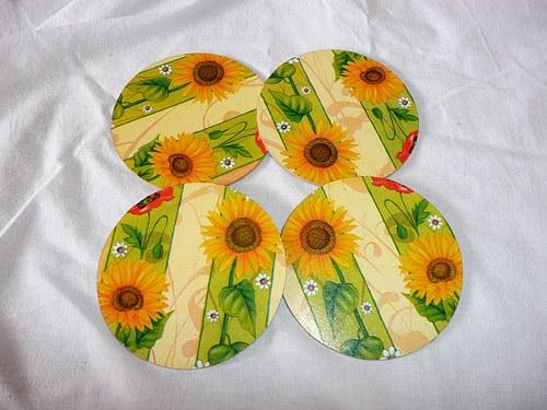 Podtácek pod hrneček - slunečnice