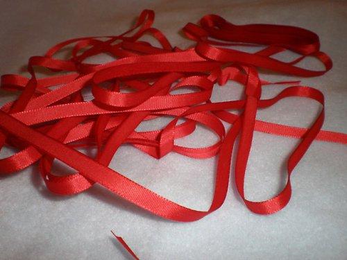 Stuha taftová červená  - 5m