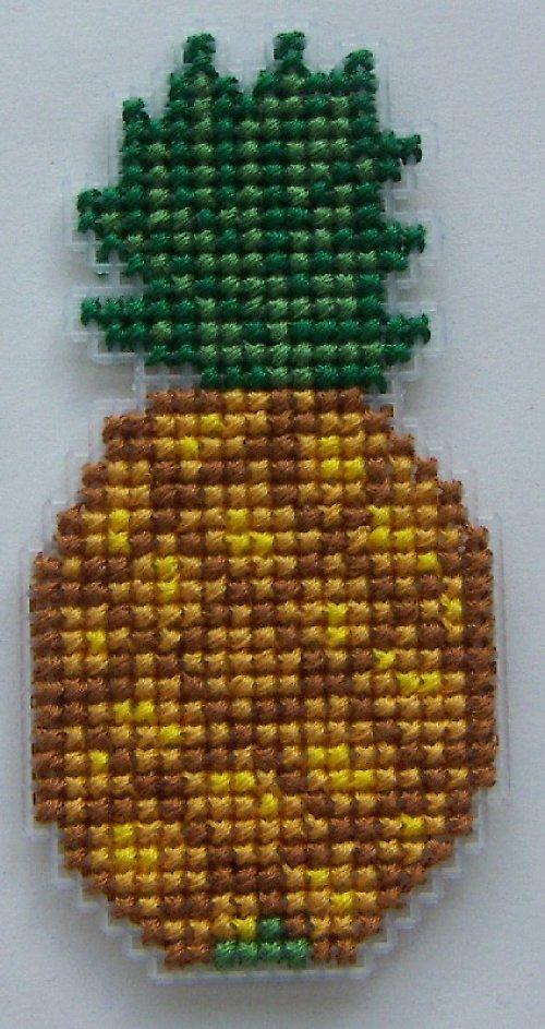Vyšívaná magnetka - ananas