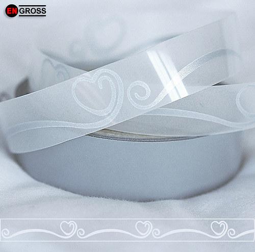 Nažehlovací reflexní páska - SRDCE I