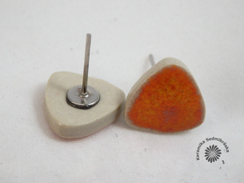 Oranžové pecičky s bílým okrajem
