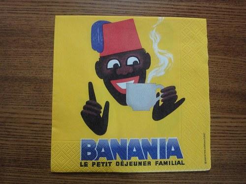 Ubrousek na decoupage - banania