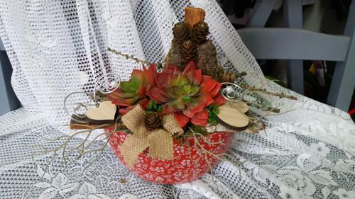 přírodní letní dekorace na stůl