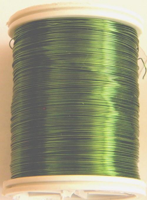 Měděný lakovaný drát 0,6 mm pistáciový