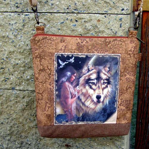 "\""Totem vlka\"" - malá kabelka/crossbody"
