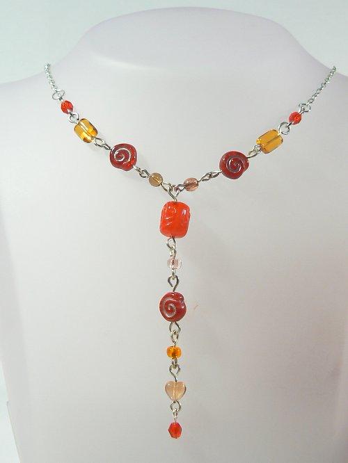 náhrdelník + náušničky
