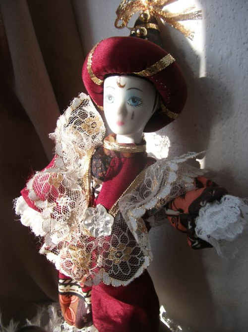 Dekorativní  klaun - keramická hlavička
