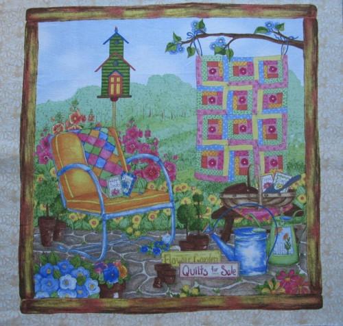 panel 26 x 27 zahrada s patchworkem