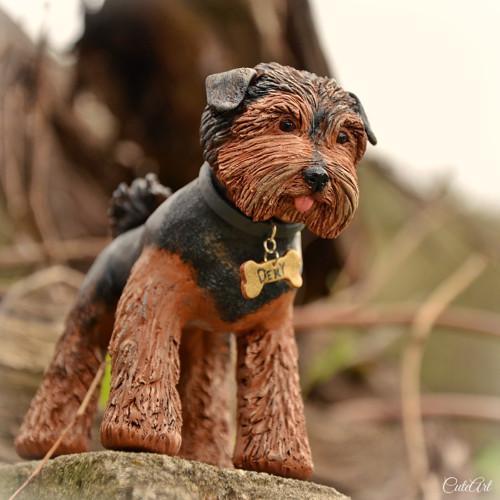 Jorkširský teriér - figurka podle fotografie