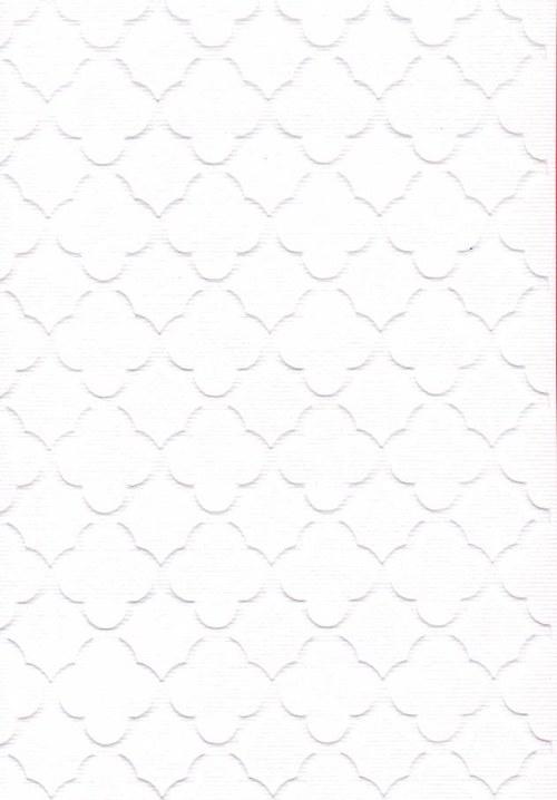 Embosovaná čtvrtka A6 - mřížka bílá