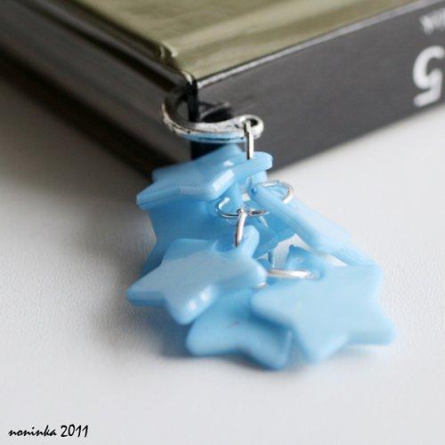 modrá hvězda  - záložka do knihy - VÝPRODEJ