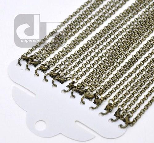 Bronzový řetízek 45 cm/12 ks