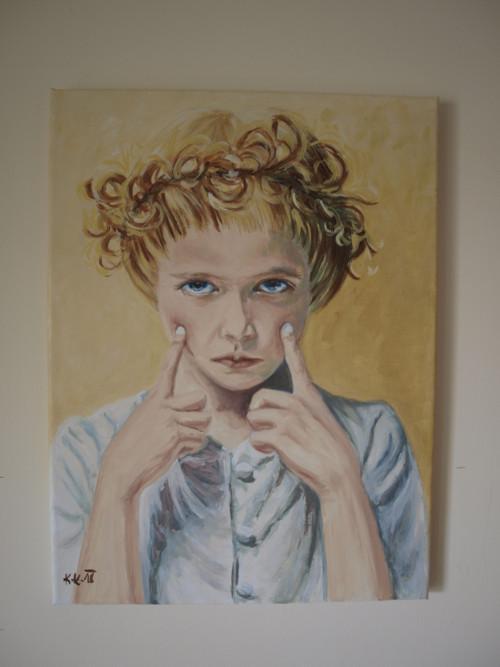 Blonďatý andílek.....