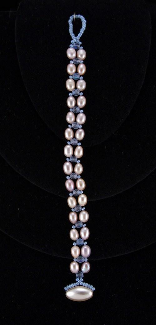 Náramek perlový (fresh water, sladkovodní perly)
