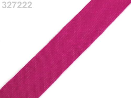 Šikmý proužek 14 mm zažehlený (5m) - Fandango Pink