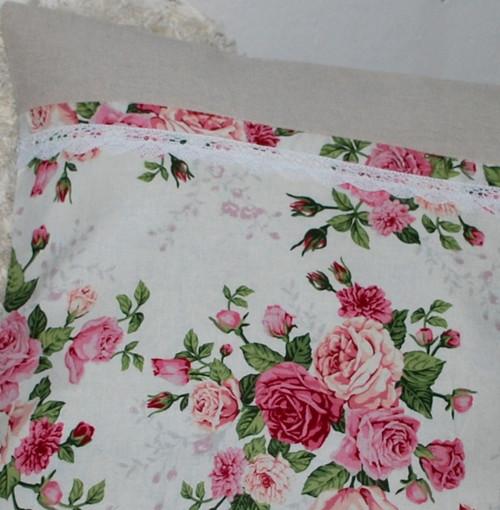 růže stof 40 x 40cm