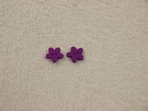 Knoflík kytička fialová 5ks