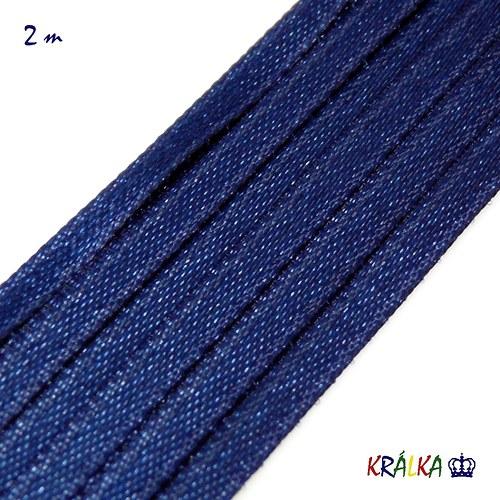 Stuha atlasová 3 mm tmavě modrá