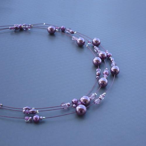 Šeříkový dětský náhrdelník
