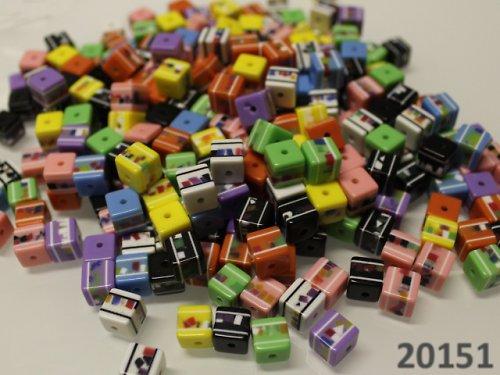 20151-B33 Korálky kostky mozaika 8/8 MIX bal.10ks